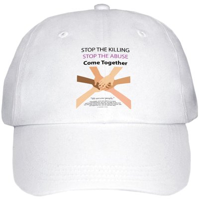 Hat_HandsWeAreOnePeople_WhiteBg_COLOR_VistaPrint_WHITE_SmallView